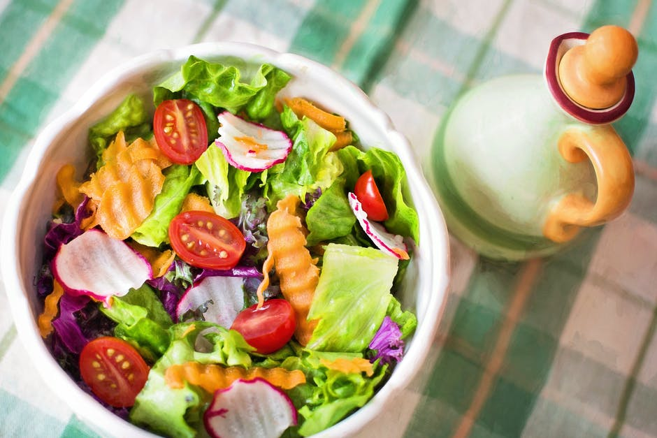 A bowl of fruit and vegetable salad